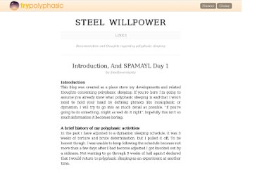 http://trypolyphasic.com/mu/steelsovereignty/2010/06/25/introduction-and-spamayl-day-1/