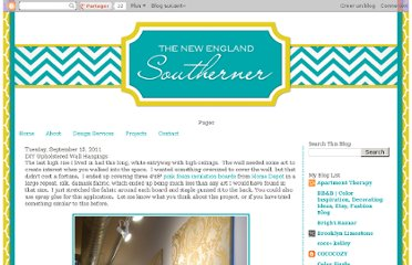 http://www.thenewenglandsoutherner.com/2011/09/creative-wall-hangings.html
