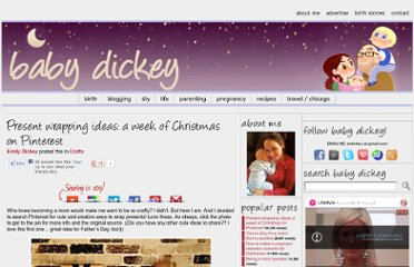 http://babydickey.com/2011/12/13/present-wrapping-ideas-a-week-of-christmas-on-pinterest/