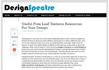 http://www.designspectre.com/resources/leaf-texturess/