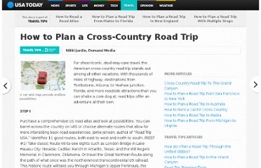 http://traveltips.usatoday.com/plan-cross-country-road-trip-12790.html