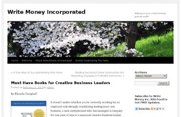 http://www.writemoneyinc.com/2012/02/10/must-have-books-for-creative-business-leaders/