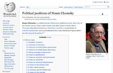http://en.wikipedia.org/wiki/Noam_Chomsky%27s_political_views