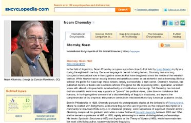 http://www.encyclopedia.com/topic/Noam_Chomsky.aspx