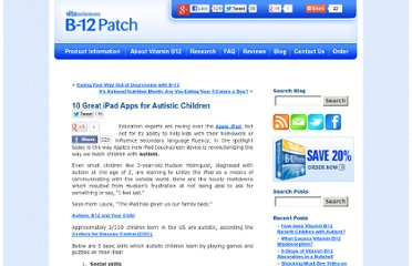 http://www.b12patch.com/blog/autism/10-great-ipad-apps-for-autistic-children/
