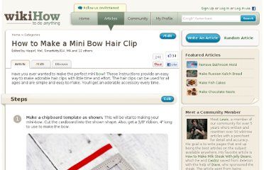 http://www.wikihow.com/Make-a-Mini-Bow-Hair-Clip