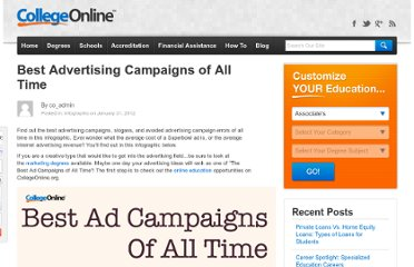 http://www.collegeonline.org/blog/best-ad-campaigns-of-all-time.html