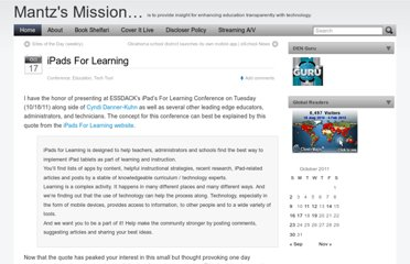 http://blog.discoveryeducation.com/mantzd/2011/10/17/ipads-for-learning/