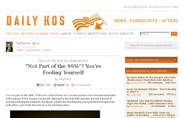 http://www.dailykos.com/story/2011/10/13/1025978/--Not-Part-of-the-99-You-re-Fooling-Yourself