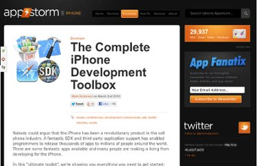 http://iphone.appstorm.net/roundups/developer/the-complete-iphone-development-toolbox/