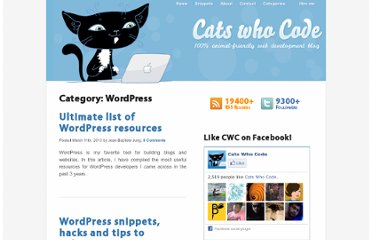 http://www.catswhocode.com/blog/category/wordpress
