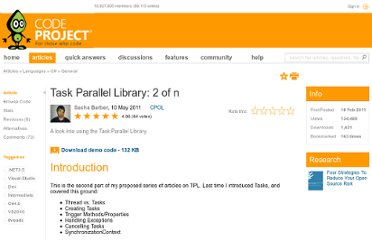 http://www.codeproject.com/Articles/159533/Task-Parallel-Library-2-of-n