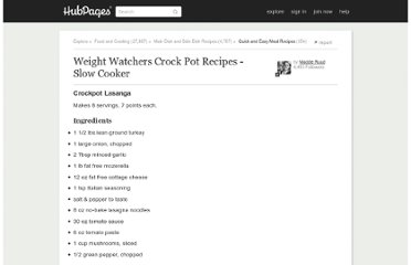 http://maddieruud.hubpages.com/hub/Weight_Watchers_Crockpot_Recipes