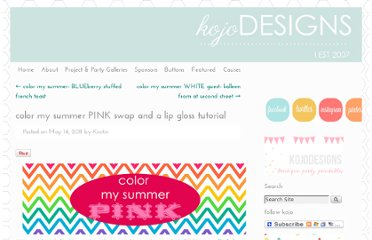 http://kojo-designs.com/2011/05/color-my-summer-pink-swap-and-a-lip-gloss-tutorial/
