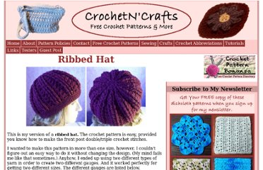 http://crochetncrafts.com/crochet/ribbed-hat.html
