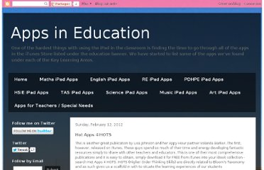 http://appsineducation.blogspot.com/2012/02/hot-apps-4-hots.html