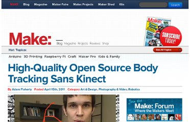 http://blog.makezine.com/2011/04/15/high-quality-open-source-body-tracking-sans-kinect/