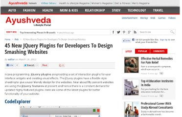 http://www.ayushveda.com/45-new-jquery-plugins-for-developers-to-design-smashing-websites/