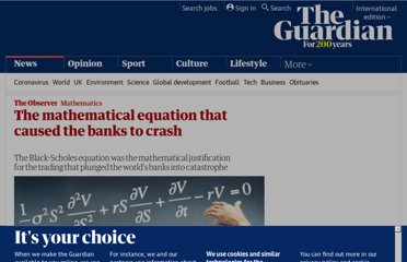 http://www.guardian.co.uk/science/2012/feb/12/black-scholes-equation-credit-crunch