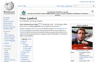 http://en.wikipedia.org/wiki/Peter_Lawford