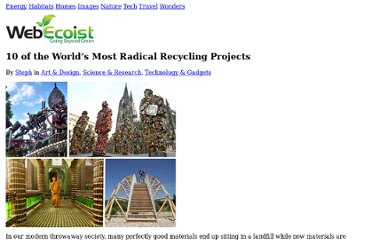 http://webecoist.momtastic.com/2009/01/06/creative-alternative-recycling-projects-art/