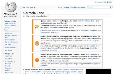 http://it.wikipedia.org/wiki/Carmelo_Bene