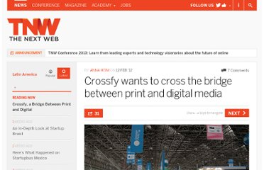 http://thenextweb.com/la/2012/02/12/crossfy-wants-to-cross-the-bridge-between-print-and-digital-media/