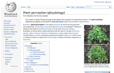http://en.wikipedia.org/wiki/Plant_perception_(physiology)