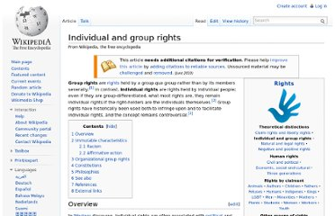 http://en.wikipedia.org/wiki/Individual_and_group_rights