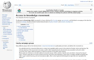 http://en.wikipedia.org/wiki/Access_to_knowledge_movement