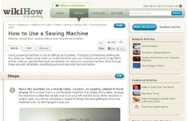 http://www.wikihow.com/Use-a-Sewing-Machine