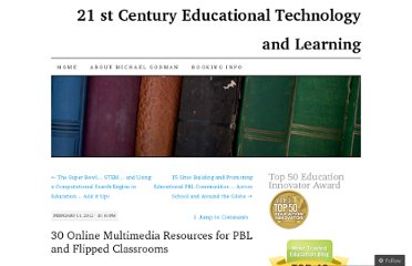 http://21centuryedtech.wordpress.com/2012/02/11/30-online-multimedia-resources-for-pbl-and-flipped-classrooms/