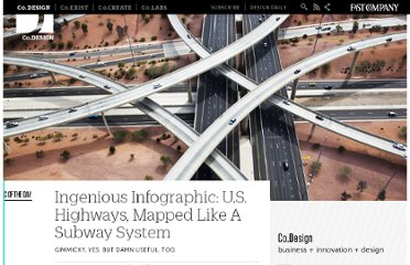http://www.fastcodesign.com/1669003/ingenious-infographic-us-highways-mapped-like-a-subway-system
