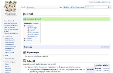 http://fr.wiktionary.org/wiki/journal