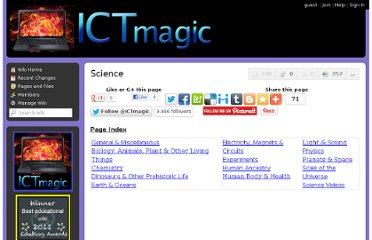 http://ictmagic.wikispaces.com/Science