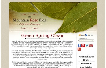 http://mountainroseblog.com/green-spring-clean/