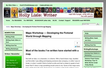 http://hollylisle.com/maps-workshop-developing-the-fictional-world-through-mapping/