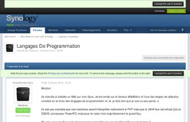 http://www.nas-forum.com/forum/topic/25600-langages-de-programmation/#entry1319126541
