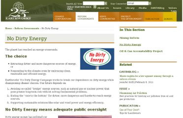 http://www.earthworksaction.org/reform_governments/no_dirty_energy/index.php?option=com_content&task=view&id=45&Itemid=80