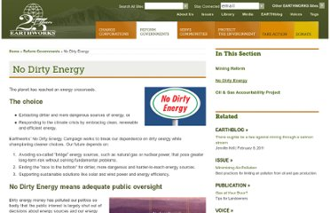 http://www.earthworksaction.org/reform_governments/no_dirty_energy/index.php?option=com_content&task=view&id=43&Itemid=78