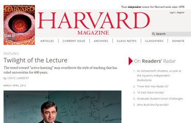 http://harvardmagazine.com/2012/03/twilight-of-the-lecture