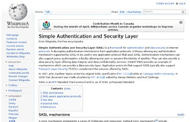 http://en.wikipedia.org/wiki/Simple_Authentication_and_Security_Layer