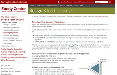 http://www.cmu.edu/teaching/designteach/design/learningobjectives.html