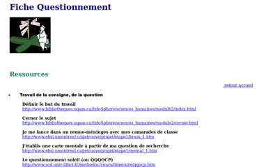 http://crdp.ac-bordeaux.fr/documentalistes/formation/cddp33/fichequestionnement.htm
