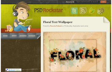 http://www.psdrockstar.com/text-effects/floral-text-wallpaper/