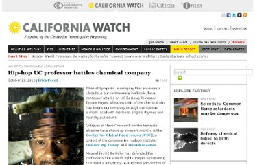 http://californiawatch.org/dailyreport/hip-hop-uc-professor-battles-chemical-company-6198