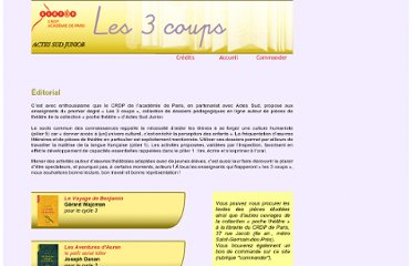 http://crdp.ac-paris.fr/les3coups/index.html