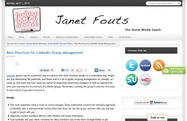 http://janetfouts.com/best-practices-for-linkedin-group-management/