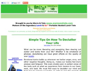 http://www.warmandtote.com/Retweet/Parenting/Tips%20on%20How%20to%20Declutter%20Your%20Life.html