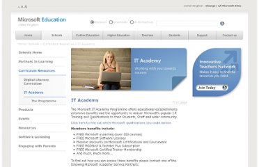 http://www.microsoft.com/uk/education/schools/curriculum-resources/IT-academy/default.aspx